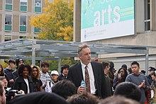 Jordan Peterson auf einer Kundgebung zum Thema 'free speech' im Oktober 2016 (Foto: Wikipedia)